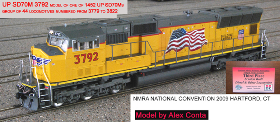 Image of Union Pacific 3792 (UP 3792) EMD SD70M HO Scale Model Locomotive