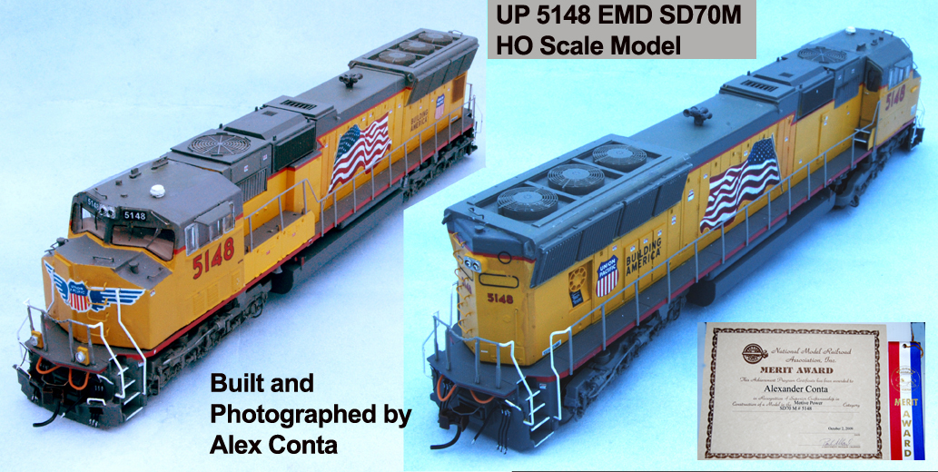 Image of Union Pacific 5148 (UP 5148) EMD SD70M HO Scale Model Locomotive